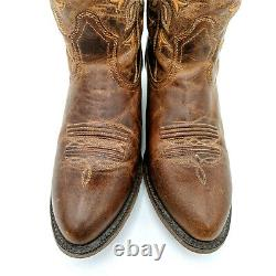 Ariat Desert Holly Brown Leather Tall Floral Western Cowboy Boots Women's 10 B