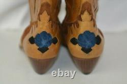 Baldinini Women's Boots Sz 37 Suede Leather Floral Colorful Cowgirl Western 7 US