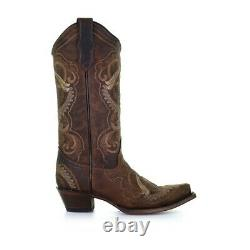 Circle G by Corral Ladies Sand Embroidery Snip Toe Boots L5767