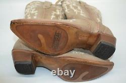 Corral 7.5 M Bone Floral Embroidery/Swarovski Crystals Wedding Boots C3178 $399