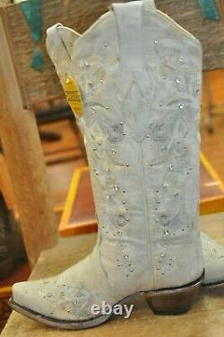 Corral A3521 White Floral Embroidered Boots