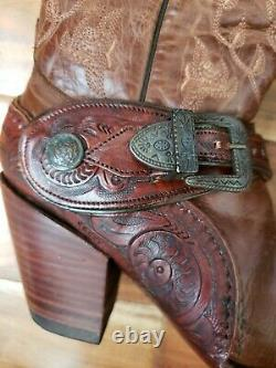 Corral Boots G1907 Ladies Saltillo Golden Brown Leather Western Fixed Harness