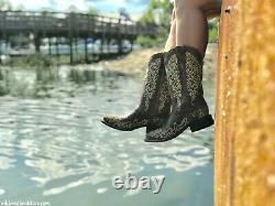 Corral Ladies Brown Crater Bone Embroidered Boot A2663