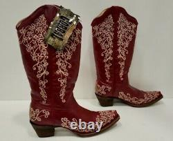 Corral Lady In Red Boots, Size 7. NWT! Western Boots, Snip Toe