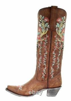 Corral Tan Deer Skull Floral Embroidered Western Boots A3620