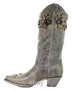 Corral Western Boots Womens Floral Overlay 13 7 M Tobacco A3602