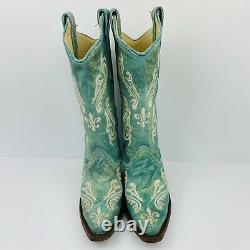 Corral Womens Cowboy Western Boots SZ 5 M Turquoise Blue Never Worn with Box