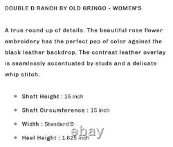 Double D Ranch Round Up Rosie Boot By Old Gringo