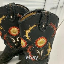Frye Jennifer Estes Collection By Hope Western Leather Boots Womens US Size 7 B