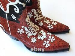 GUCCI Mens Tom Ford Era Western Snakeskin Cowboy Boot Sz 11.5 UK (12 US) $4000