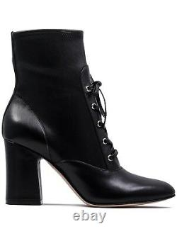 Gianvito Rossi Mackay Black Leather Lace-Up Ankle Booties Size 41EU/10US $995.00