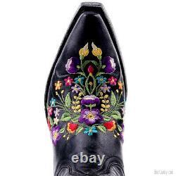 L 841-02 Old Gringo Sora Vesuvio Black Floral 13 Leather Boots
