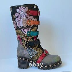 L'Artiste by Spring Step'Brazen' Mid Calf Leather Embroidered Boot 9
