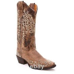 Laredo Ladies Brown Flower Embroidered Western Boot 52177
