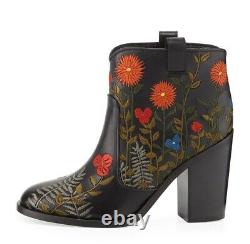 Laurence Dacade Pete Floral Embroidered Ankle Boot Size 7