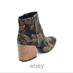 Les Trois Garcons 61500 Multi-Color Sequin-Embroidered / Leather Boot 36 / US 6