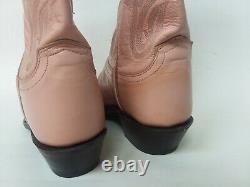 Lucchese 1883 Pink Women Leather Cowboy Boots Size 7