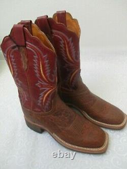 Lucchese 2000 Handcrafted Western Cowboy Leather Boots Size 7 1/2 B New