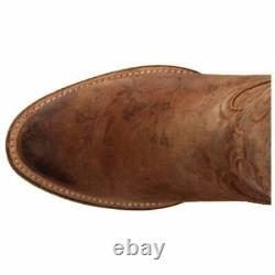 Lucchese Laurelie Cowhide Floral Print Round Toe Womens Western Cowboy Boots