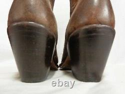 Lucchese Women's M4951 Brown Floral Printed Leather Boot 13 Inch Shaft $296