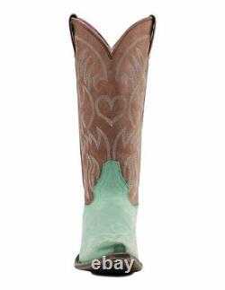Miss Macie Women's Turquoise Pure Prairie U6004-02 Snip Cowgirl Boot NWT 6.5-10M