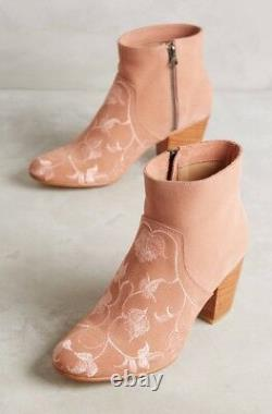 NEW $358 Anthropologie Huma Blanco Embroidered Prudence Ankle Boots Size 39