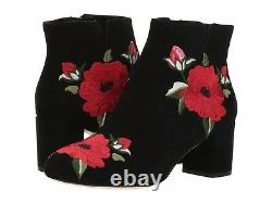 NEW Kate Spade New York Langton Embroidered Suede Booties Size 10.5 B(M)