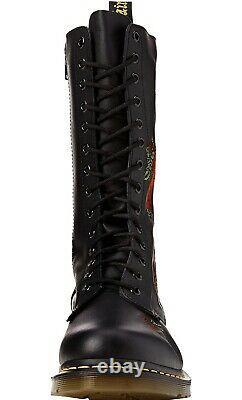 NIB Dr. Doc Martens Vonda Roses Soft Leather Black 14 Eye Size 8