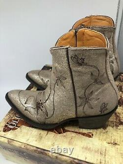 New OLD GRINGO Flor Loca 6 Flora Ankle Boots Size 8.5 Sintino Usaso Snow $450