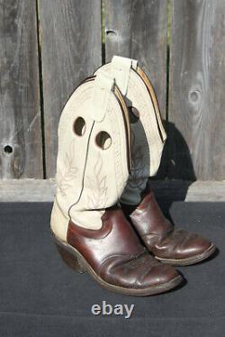 Olathe Cowboy Boots Rawhide Size 10D