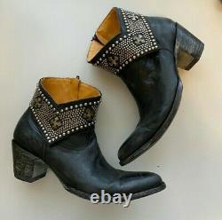 Old Gringo Clovis Black Studded Short Boot Booties Size 6 B