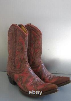 Old Gringo Cowboy Western Cowgirl Two Tone Leather Boots 7.5 Reduced