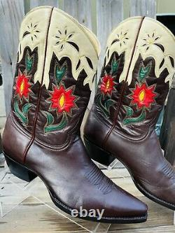 Old Gringo Embroidered Western Leather Brown Cowboy Boots 9B