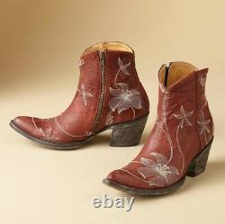 Old Gringo Flora Loca Ankle Boots Red BL1136-3 Retail $450
