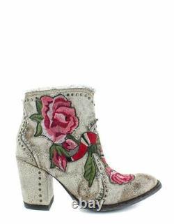 Old Gringo Ladies Carla Short Crackled Bone Floral Boots BL3184-3
