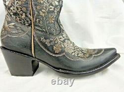 Old Gringo Ladies Cowboy Boots Meggy L3179-1 Black/Embroidery Flowers(was $575)
