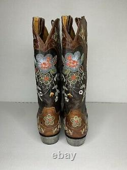 Old Gringo Leather Embroidered Bonnie Cowboy Western Snip-toe Boots Womens 10 M
