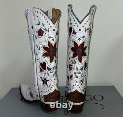 Old Gringo Lovers and Flowers Boot