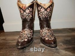 Old Gringo SORA 8 Brown Leather Embroidered Ankle Boots Womens Size 7B L841-18