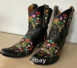 Old Gringo SORA 8 Floral Leather Embroidered Boots Women's Size 8 L841-2