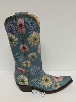 Old Gringo Saguaro Flower 13 Cowboy Boots, Blue, Women's 8.5 M