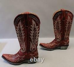 Old Gringo Women's Nevada Western Boots MC7 Vesuvio Red L175-262 Size 9B $399