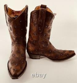 Old Gringo Womens Embroidered Boots SPRINGY 10 Brass Size 8.5 Brass