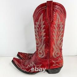Old Gringo Womens Sz 11 B Red Leather Embroidered Nevada Cowgirl Cowboy Boots