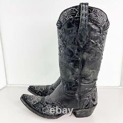 Old Gringo Womens Sz 7.5 B Erin Western Cowboy Leather Black Boots Embroidered