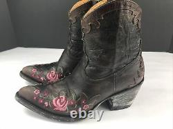 Old Gringo Womens Western Brown Embroidery Rose Garden Boots Size 5.5 Lke New