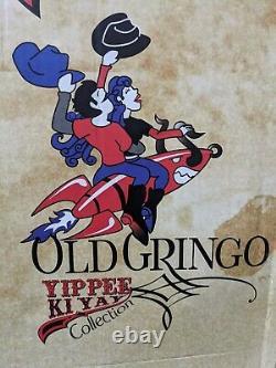 Old Gringo Yippee Kiyay Anna Sui Womens Black Red Floral Stitch Lynn Size 11B