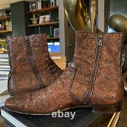 Prada FW2006 Mens Embroidered Chelsea Boots IT10 / US11
