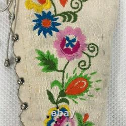 RARE Vintage 1975 Jerry Edouard White Floral Beaded Embroidered Boots Size 7.5