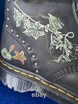 Rare Dr Martens Gomez Botanicals Floral Embroidered Boots UK 5 EU 38 Platform